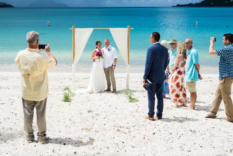 An island beach wedding.