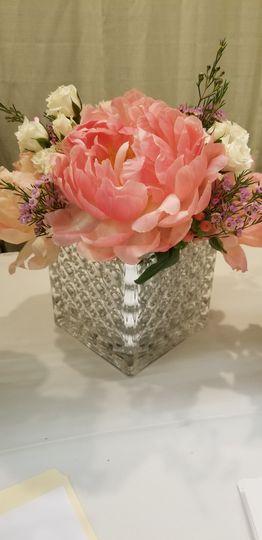 Classic glass vase centerpiece