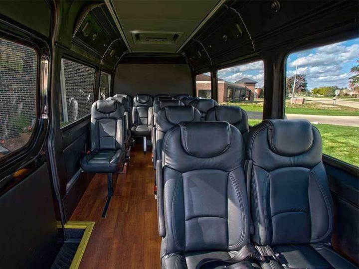 Interior, Mercedes Sprinter Shuttle