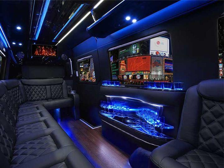 Interior, Mercedes Sprinter Limousine