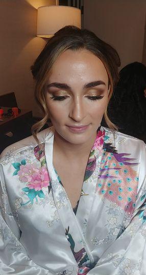 Glamorous eye look