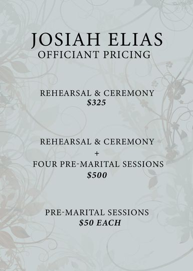 Officiant Pricing