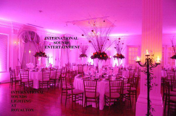 Uplighting in pink
