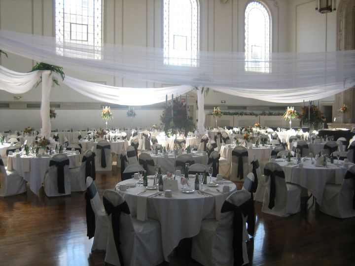 Reception hall setup