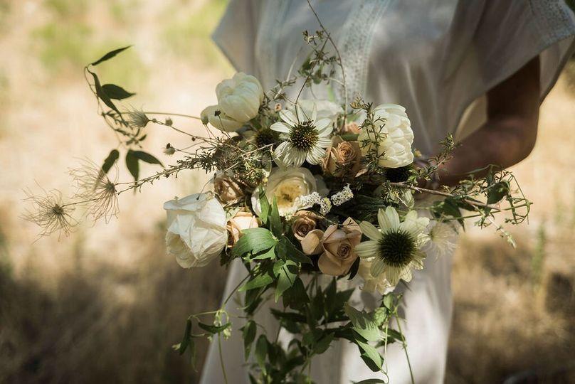 Creative floral arrangement