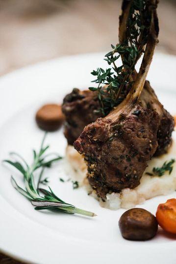 wedding reception food lamb chop the manor at airmont 51 1015707 160088461071799
