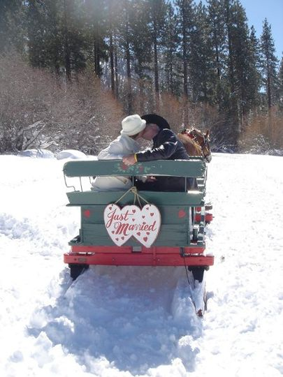 Kiss on a sled