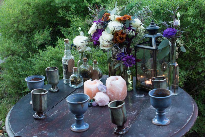 Eyecatching ceremony altar