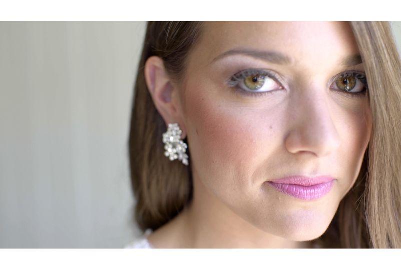 Portrait of Brides Eyes