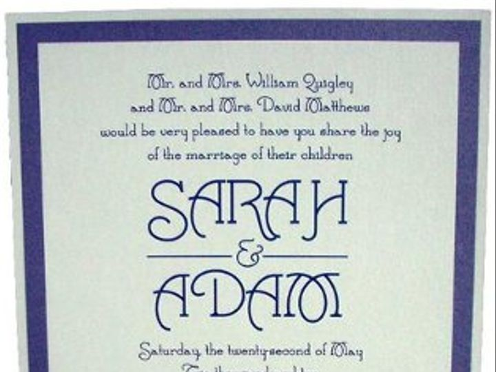 Tmx 1238175003798 Sarah Marlboro wedding invitation