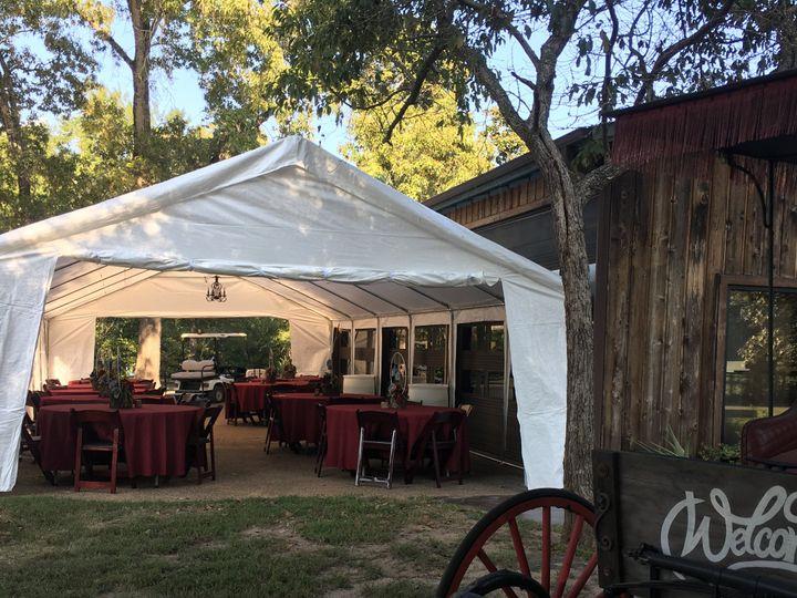 Tmx Tent Ext Closeup Next To Hall Oct 2019 51 929707 1570975544 Plantersville, Texas wedding venue