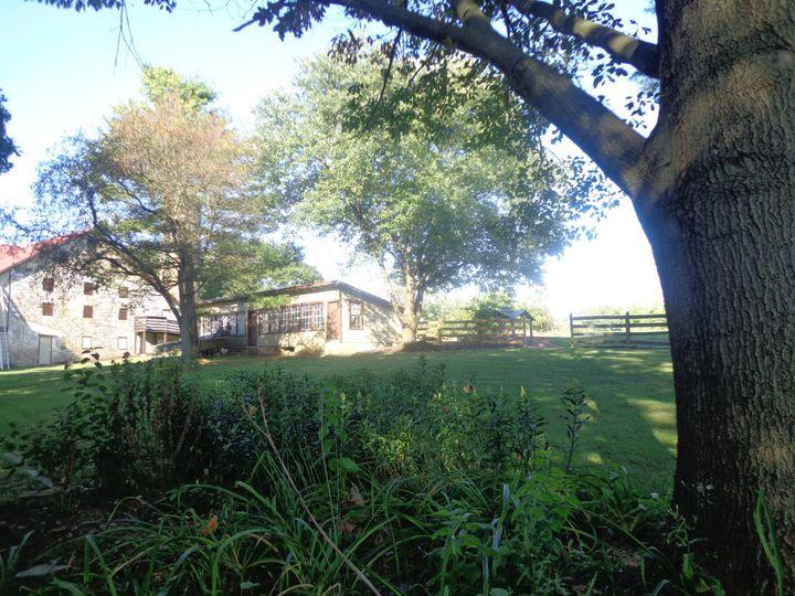 View towards barn