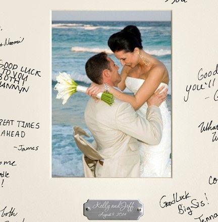 Tmx 1479616649574 Engrave Wedding Wishes Signature Frame Colorado Springs wedding favor