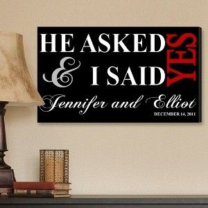 Tmx 1479616680422 He Asked And I Said Yes Canvas Colorado Springs wedding favor