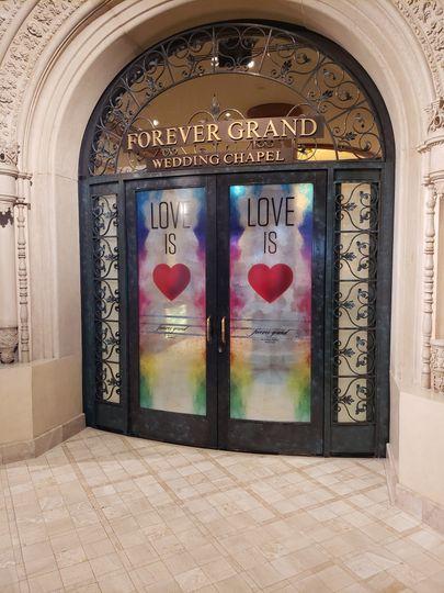 Chapel doors - love is love
