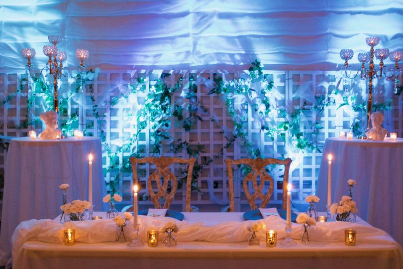 Dreamy blue tablescape