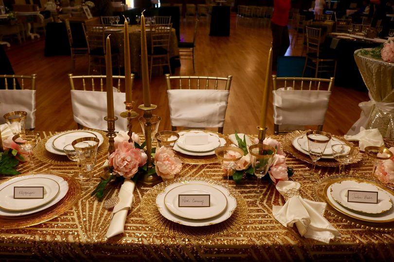 Gold Table Arrangement