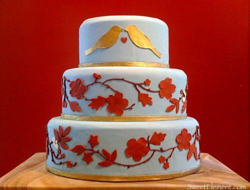 bluebirdweddingcake