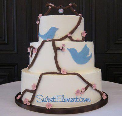 Tmx 1332532690164 Bluebirdcherryblossombuttercreamweddingcake East Orange wedding cake