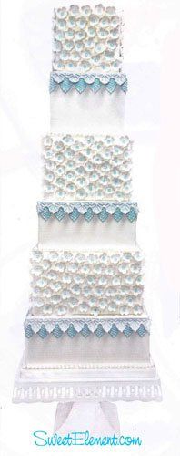 Tmx 1332532690961 Brideswhitebluelaceweddingcake East Orange wedding cake