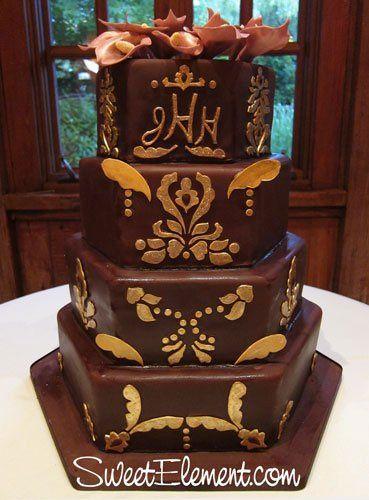 Tmx 1332532691732 Burgundygoldfilagreedustyrosecalalilyweddingcake East Orange wedding cake