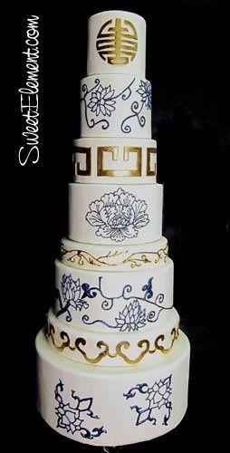 Tmx 1332532693497 Chinesepotteryinspiredweddingcake East Orange wedding cake