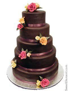 Tmx 1332532694143 Chocolateroseweddingcake East Orange wedding cake