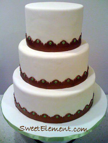 Tmx 1332532694388 Coppergreensequinweddingcake East Orange wedding cake