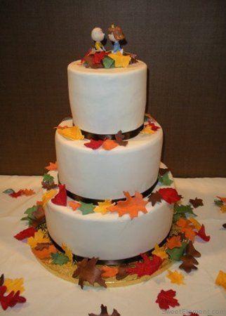 Tmx 1332532695551 Fallleavesweddingcake East Orange wedding cake