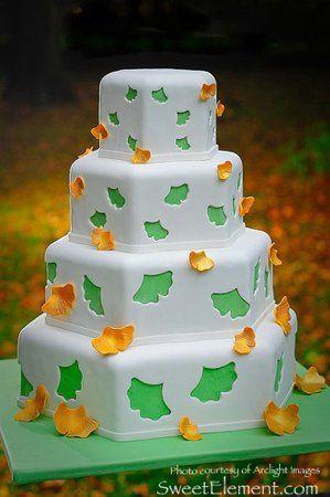 Tmx 1332532696045 Fallingginkgoleafweddingcake East Orange wedding cake