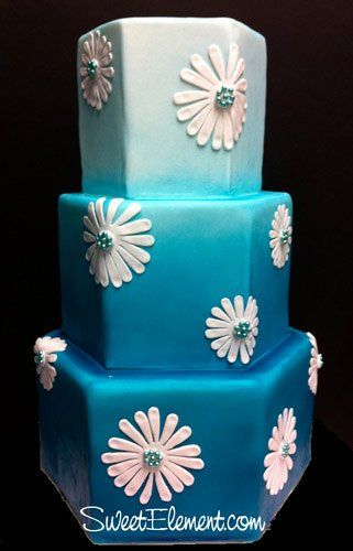 Tmx 1332532696746 Hexagontealombremodernmumweddingcake East Orange wedding cake