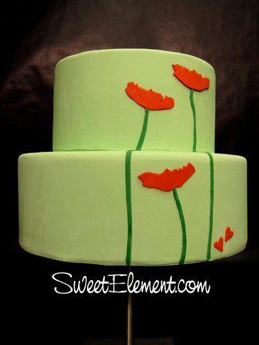 Tmx 1332532698644 MintGreenRedPoppyWeddingCake East Orange wedding cake