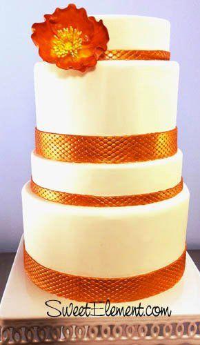 Tmx 1332532699652 Modernpoppyweddingcake East Orange wedding cake