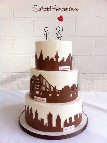 Tmx 1332532702155 Newyorksanfranciscocopenhagencityskylinesweddingcake East Orange wedding cake