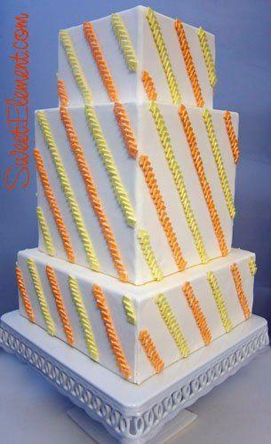 Tmx 1332532703652 Orangeyellowsquaresequinedstripeweddingcake East Orange wedding cake