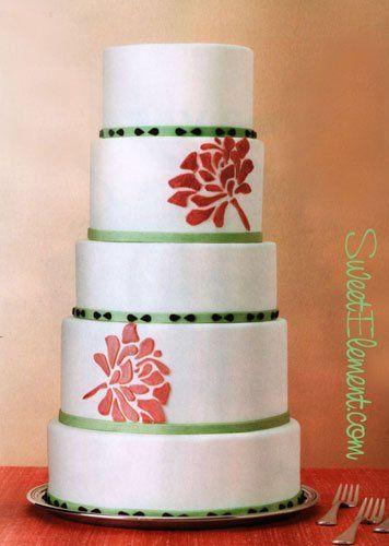 Tmx 1332532705231 Peonycutoutweddingcake East Orange wedding cake