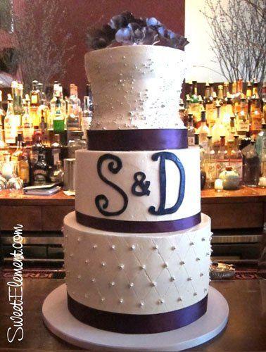 Tmx 1332532706528 Purpleorchidbuttercreamweddingcake East Orange wedding cake