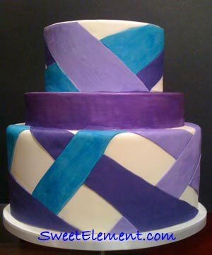 Tmx 1332532707282 Purplestripeweddingcake East Orange wedding cake