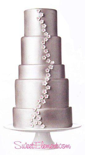 Tmx 1332532708246 Silvercherryblossomweddingcake East Orange wedding cake