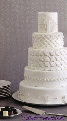 Tmx 1332532709841 Whiteonwhiteartdecoweddingcake East Orange wedding cake