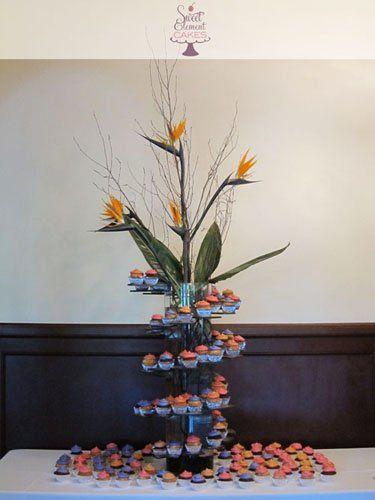 Tmx 1351892719431 Birdsofparadisespiralweddingcupcaketower East Orange wedding cake