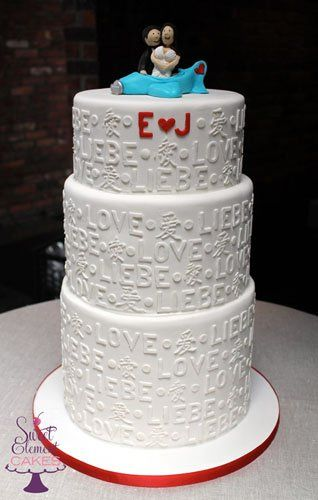 Tmx 1351892720851 Loveinfourlanguagesweddingcake East Orange wedding cake