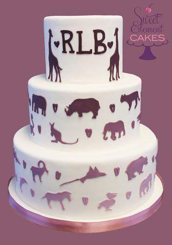 Tmx 1351892726174 Bronxzooanimalsilhouettesweddingcake East Orange wedding cake