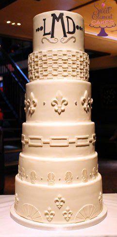 Tmx 1351892788435 Whiteartdecofleurdelisweddingcake1 East Orange wedding cake