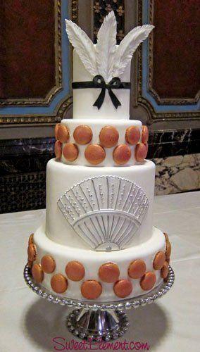 Tmx 1351892794193 Modernmarieantoinetteweddingcakemacaroonsugarfeathersfan East Orange wedding cake
