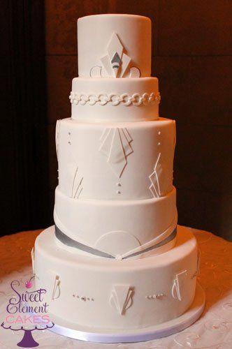 Tmx 1351906741069 Whiteplatinumartdecoweddingcake East Orange wedding cake
