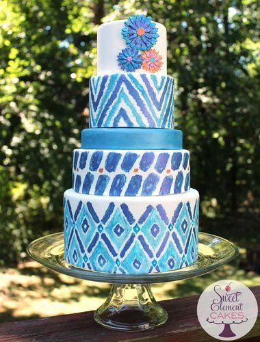 Tmx 1351907445697 Blueikatweddingcake East Orange wedding cake