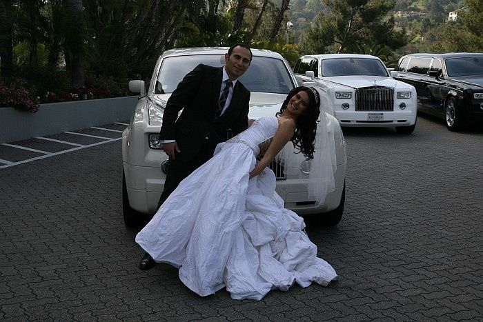 wedding limousine in la