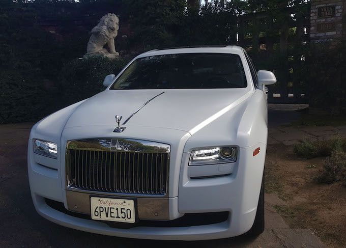 rolls royce ghost limo in la