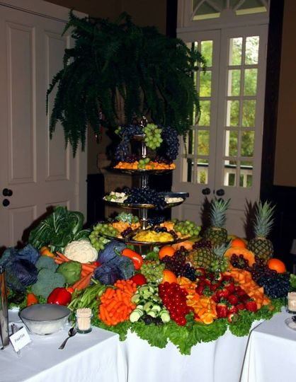 Our beautiful Vegetable, Fruit and Cheese Selection.     We used whole fruits and vegetables to...